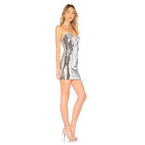 Revolve By The Way Strapless Sequin Mini Dress